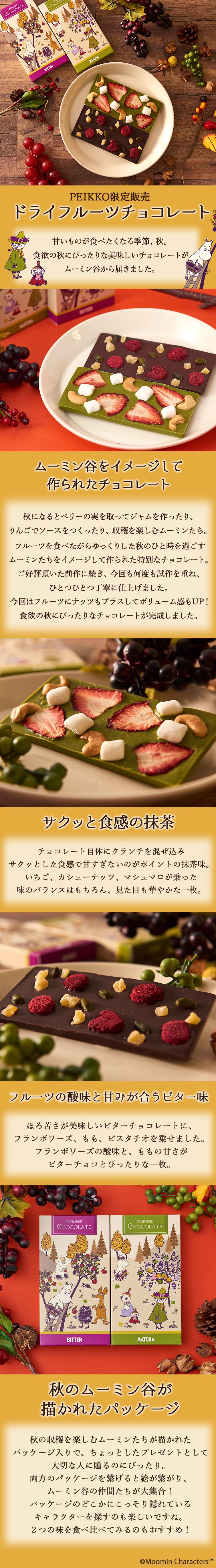 ムーミン公式オンラインショップPEIKKO ドライフルーツチョコレート