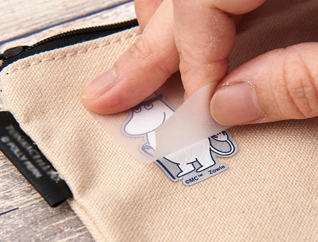ムーミン irodo ファブリックステッカー シール 布に貼れる